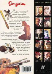 Gauguin - 4ème de couverture - Format classique