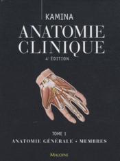 Anat. clinique t.1 (4e édition) - Couverture - Format classique