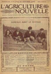 L'agriculture nouvelle, n°1114, samedi 24 aout: agneaux avant le sevrage - Couverture - Format classique