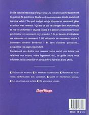 Reussir Sa Retraite - 4ème de couverture - Format classique