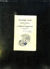 Novissima Verba. Derniers Entretiens De Sainte Therese De L Enfant Jesus Mai Septembre 1897. - Couverture - Format classique
