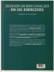 Devenir un bon cavalier en 101 exercices - 4ème de couverture - Format classique