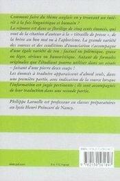 Le thème anglais par les citations - 4ème de couverture - Format classique