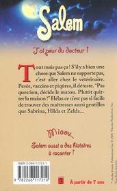 Salem T.11 ; J'Ai Peur Du Docteur - 4ème de couverture - Format classique