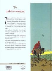 Les 7 vies de l'épervier T.3 ; l'arbre de mai - 4ème de couverture - Format classique