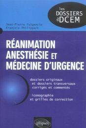 Reanimation Anesthesie Et Medecine D'Urgence - Intérieur - Format classique