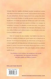 Maladies arthritiques - 4ème de couverture - Format classique