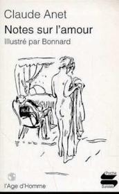 Notes Sur L'Amour - Couverture - Format classique