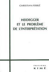 Heidegger Et Le Probleme De L'Interpretation - Couverture - Format classique
