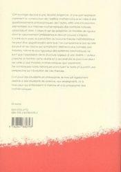 Nombres : éléments de mathématiques pour philosophes - 4ème de couverture - Format classique