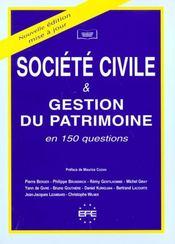 Ste civile gest. patrimoine - Intérieur - Format classique