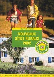 Nouveaux Gites Ruraux ; Edition 2002 - Intérieur - Format classique