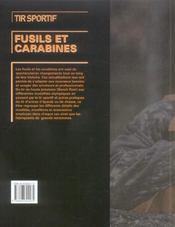 Tir Sportif Fusils Et Carabines - 4ème de couverture - Format classique