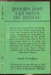 Les Mots Du Ressac - Collection Poesie 74 Seghers N°5 - Couverture - Format classique