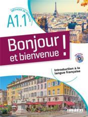 Bonjour et bienvenue ! en français A1.1 - Couverture - Format classique
