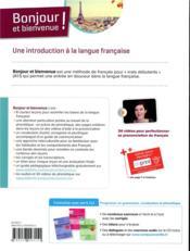 Bonjour et bienvenue ! en français A1.1 - 4ème de couverture - Format classique