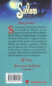 Salem T.12 ; Sale Punition - 4ème de couverture - Format classique