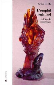 L'Emploi Culturel A L'Age Du Numerique - Couverture - Format classique