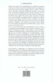 S'Apparenter ; Ethnologie Des Liens De Familles Recomposees - 4ème de couverture - Format classique