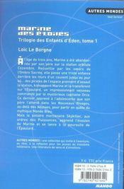 L'enfant d'éden t.1 ; marine des étoiles - 4ème de couverture - Format classique