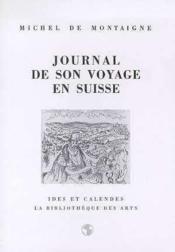 Journal de son voyage en Suisse - Couverture - Format classique