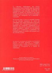 Autour De La Modelisation En Probablilites - 4ème de couverture - Format classique