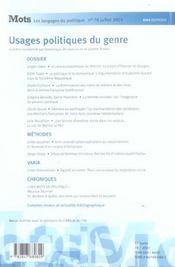 Mots T.78 - 4ème de couverture - Format classique