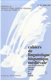Clhm t.22/1998-1999 melanges roudil t2 - Couverture - Format classique