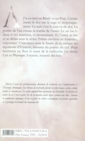Cosmologie Dite A Rimbaud - 4ème de couverture - Format classique