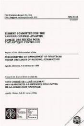 Rapport de la 9e session du sous-comite de l'amenagement des ressources a l'interieur des limites - Couverture - Format classique