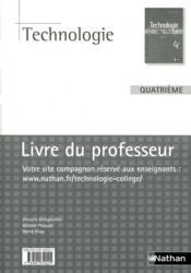 Technologie ; 4ème ; livre du professeur (édition 2009) - Couverture - Format classique