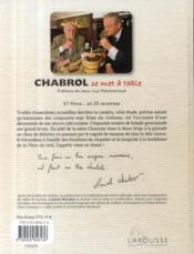 Chabrol se met à table - 4ème de couverture - Format classique