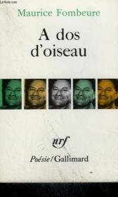 A Dos D'Oiseau. Collection : Poesie. - Couverture - Format classique
