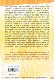 Le Beurre Et L'Argent Du Beurre - 4ème de couverture - Format classique