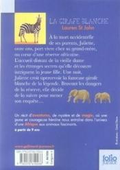 La girafe blanche - Couverture - Format classique
