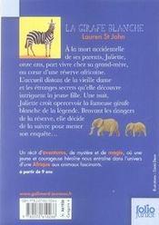 La girafe blanche - 4ème de couverture - Format classique