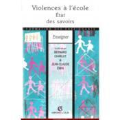 Violences A L'Ecole : Etat Des Savoirs - Couverture - Format classique