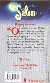 Salem ; Le Gang Des Souris - 4ème de couverture - Format classique