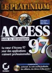 Access 97 guide du developpeur - Couverture - Format classique