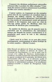 Decision En Miettes : Systemes De Pensee Et ....P - 4ème de couverture - Format classique