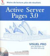 Visuel Pro Active Server Pages 3.0 - Intérieur - Format classique