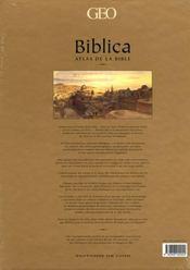 Biblica atlas de la bible - 4ème de couverture - Format classique