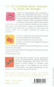 Dictionnaire de la nouvelle alimentation - 4ème de couverture - Format classique
