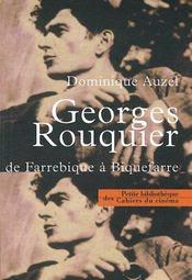 Georges Rouquier, de Farrebique à Biquefarre - Intérieur - Format classique