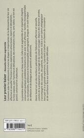 Leur premier baiser ; l'éducation affective et sexuelle des ados (édition 2008) - 4ème de couverture - Format classique