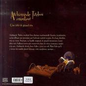 Archimède de Tirelou, inventeur ; une idée de grand cru - 4ème de couverture - Format classique