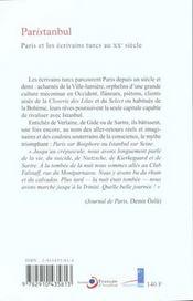 Paris Dans La Litterature Turque - 4ème de couverture - Format classique