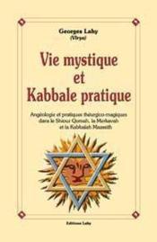 Vie mystique et kabbale pratique - Couverture - Format classique