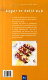 Léger et délicieux - 4ème de couverture - Format classique