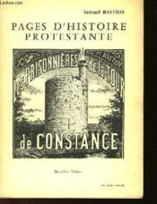 Pages D'Histoire Protestante - Les Prisonniers De La Tour Constance - Couverture - Format classique